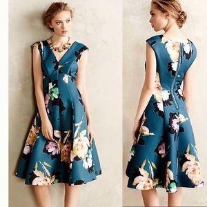 moulinette soeurs teal floral dress